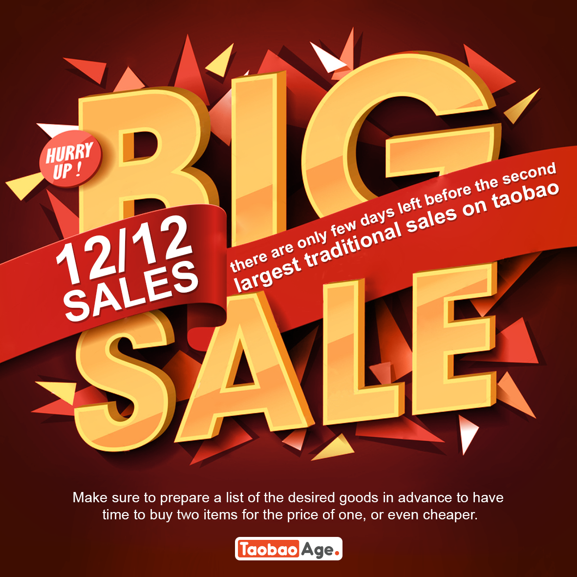 12.12 Sale on Taobao: Double 12, Double the savings
